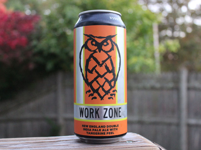 Work Zone, a Double IPA brewed by Night Shift Brewing