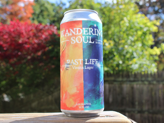 Past Life, a Vienna Lager brewed by Wandering Soul Beer Company