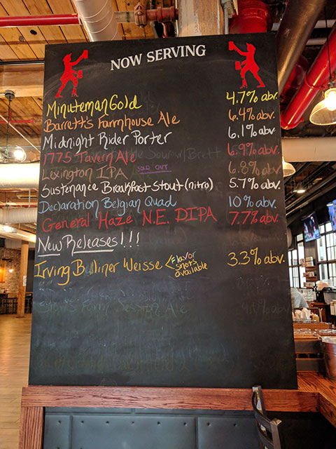 A list of the craft beer brewed by Battle Road