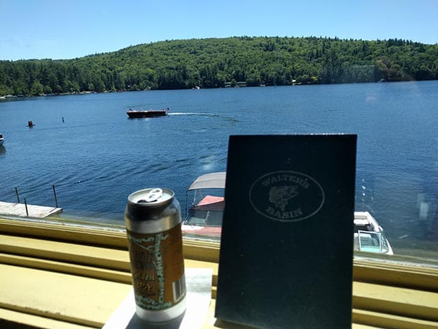 Squam Brewing Golden IPA at Walter's Basin in Holderness, NH